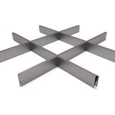 Потолок Грильято ячейка 200х200, d10, металлик А907