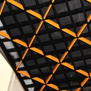 Потолок Грильято Диагональное, h37 b15, белый матовый А902