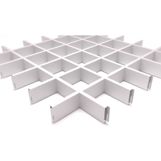 Потолок Грильято ячейка 100х100, d10, белый матовый А903
