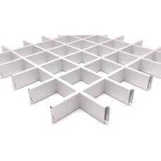 Потолок Грильято ячейка 120х120, d10, белый матовый А903