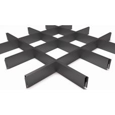 Потолок Грильято ячейка 150х150, d10, черный А911