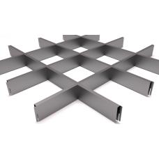 Потолок Грильято ячейка 150х150, d10, металлик А907