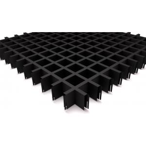 Потолок Грильято ячейка 50х50, d10, черный А911