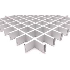 Потолок Грильято ячейка 86х86, d10, белый матовый А903