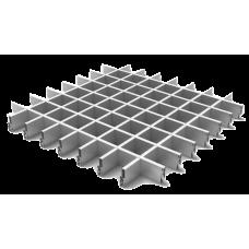 Потолок Грильято ячейка 75х75, d10, металлик А907