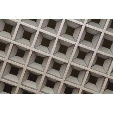 Потолок Грильято «Пирамидальный» белый матовый А903