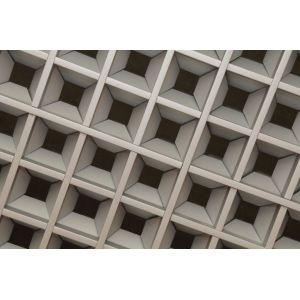 Потолок Грильято «Пирамидальный» металлик матовый А906