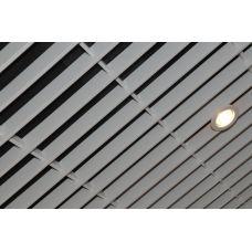 Потолок Грильято «Жалюзи» белый матовый А903